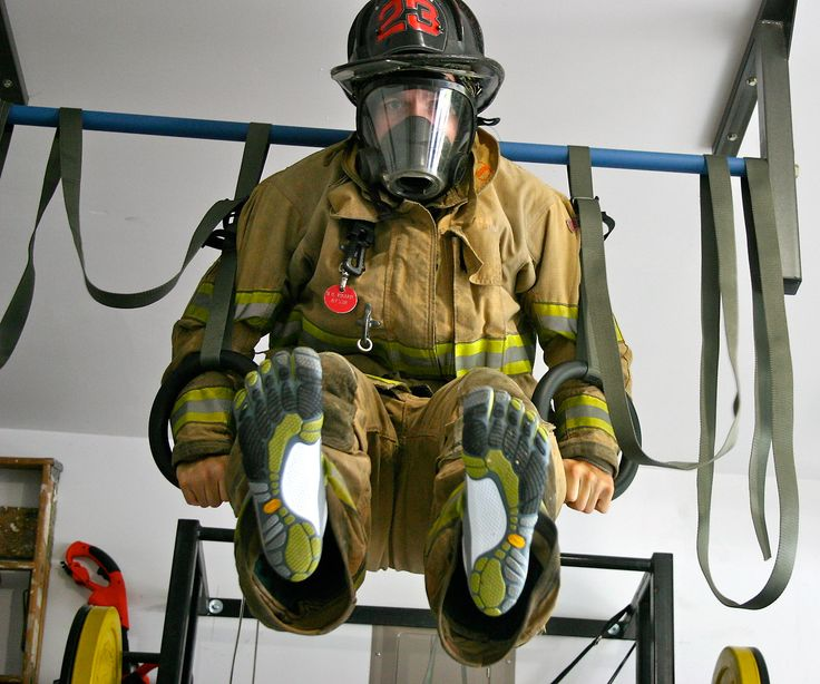 Crossfit training : in bunker gear  ~ Repinned by Crossed Irons Fitness