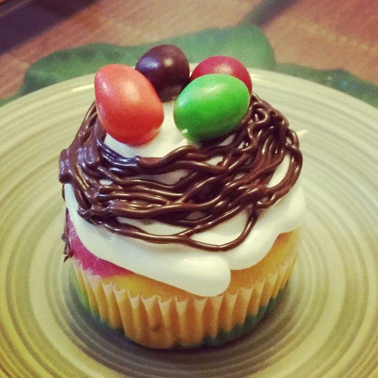 Easter rainbow cupcake