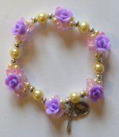 Elastic Purple Rose Apparition Bracelet.