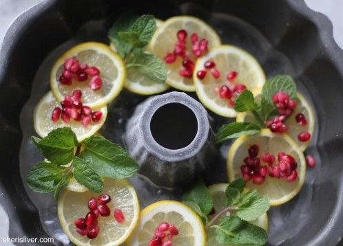 "How to Make a ""Decorative Ice Ring"" for a Punch Bowl....I use juice instead of water. That way as it melts it doesn't dilute the punch!"