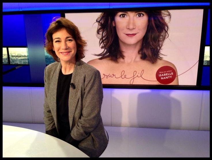 La pétillante Virginie Hocq sur le plateau de #Tv5monde