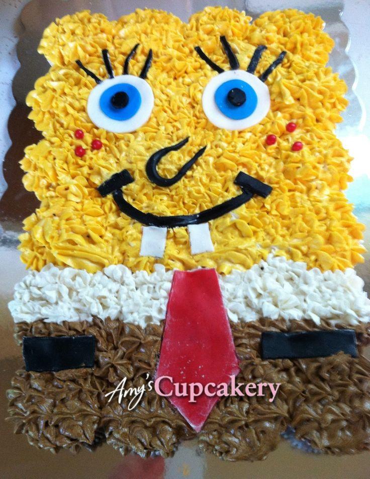 Spongebob Pull Apart Cake Spongebob Amy S Cupcakery