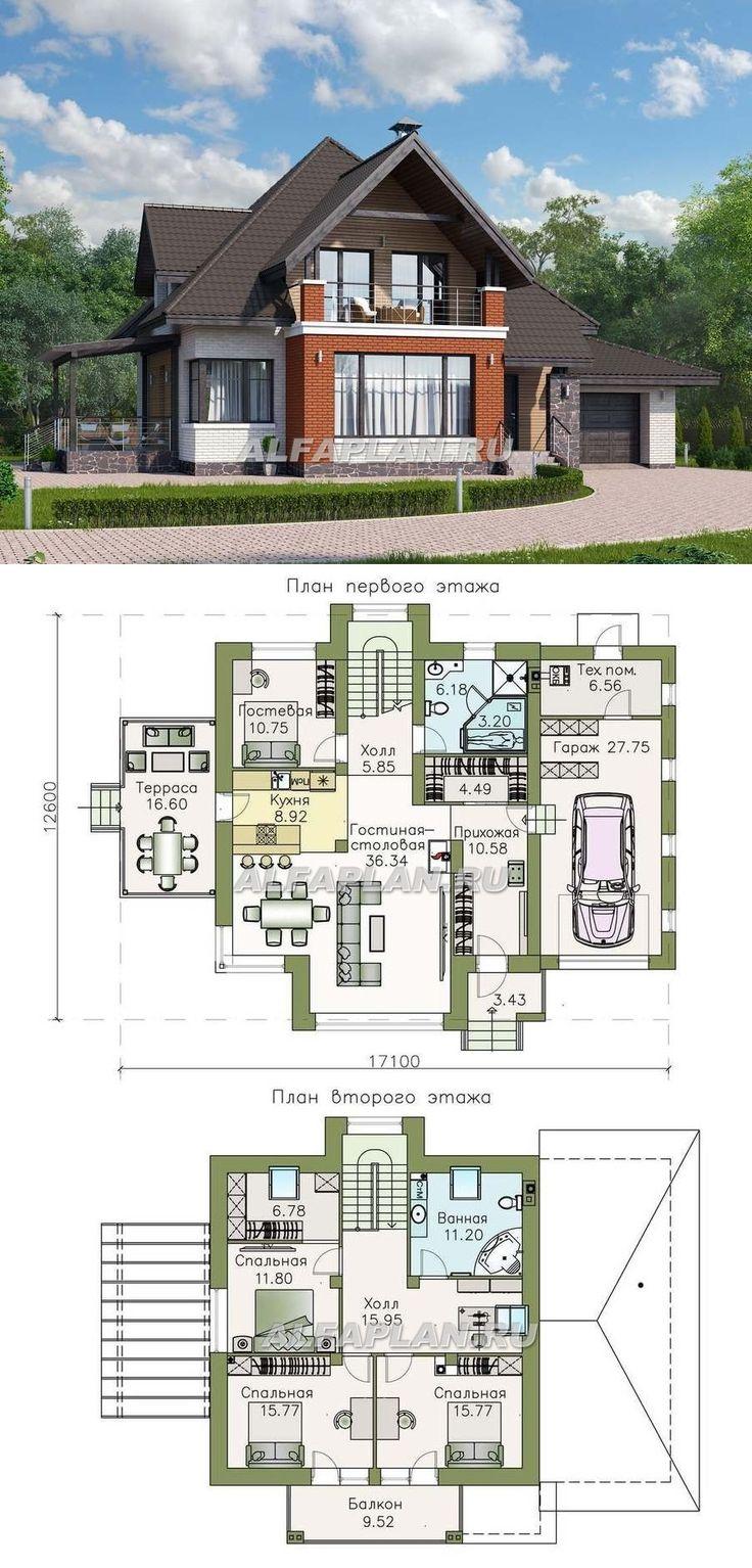 Двухэтажный дом проект план фото мансардного типа жизни тебе