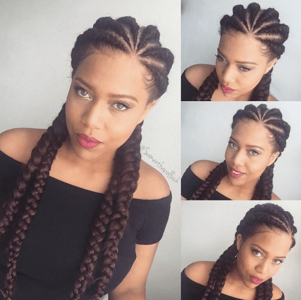 Lovely Ghana Braids IG:@samanthapollack  #naturalhairmag #protectivestyles