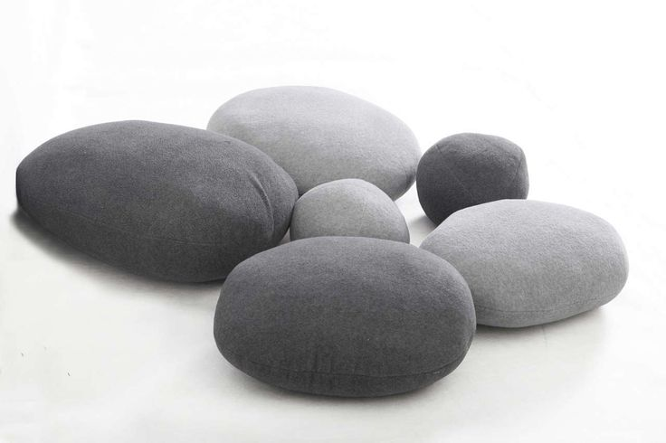 Pebble Pillows Design ~ http://www.lookmyhomes.com/unique-view-and-functional-pebble-pillows/