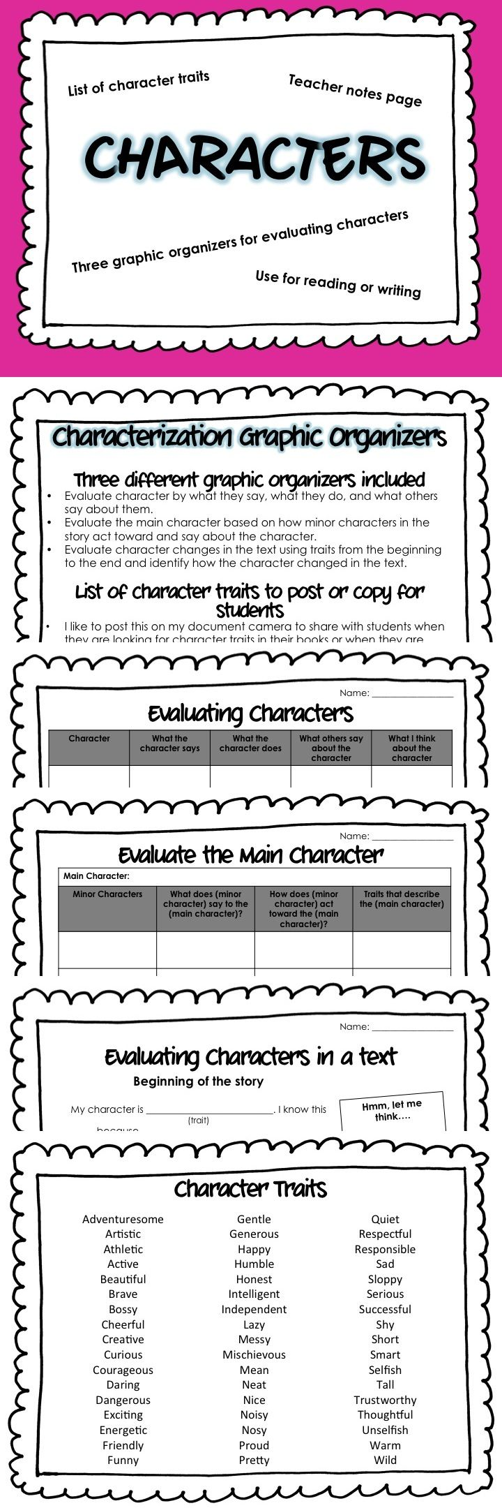 Charlotte s Web Character Traits   Fancy Reading Ideas   Pinterest     Pinterest Critical Thinking Traits   Characteristics