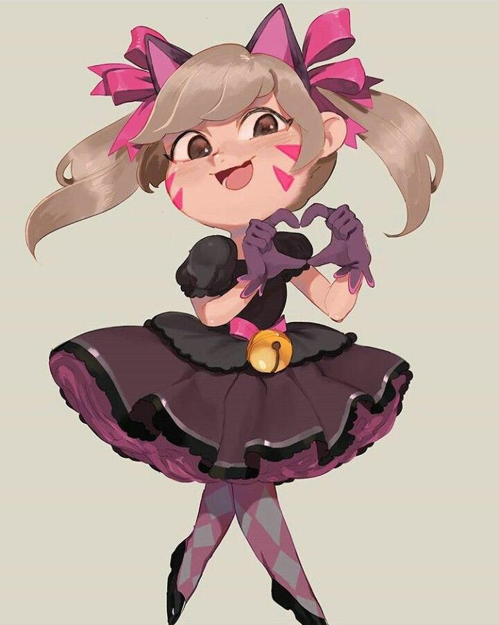 Cute chibi Black Cat D.Va art