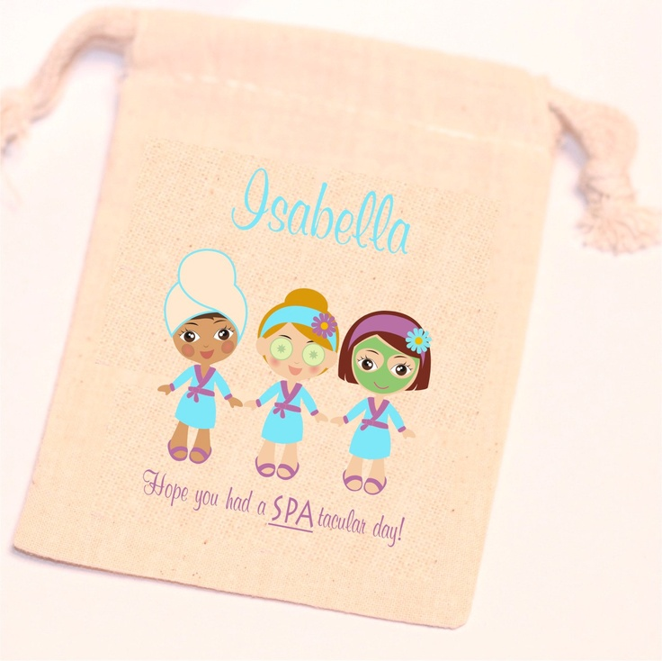 SPA PARTY - Day Spa Theme - 10 - 5x8 inch Favor Bags -