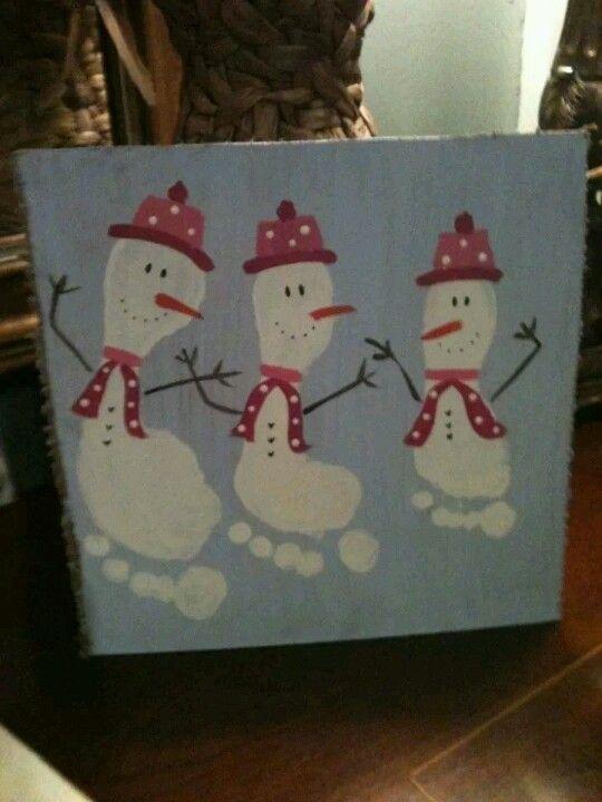 Footprint snowman                                                       …