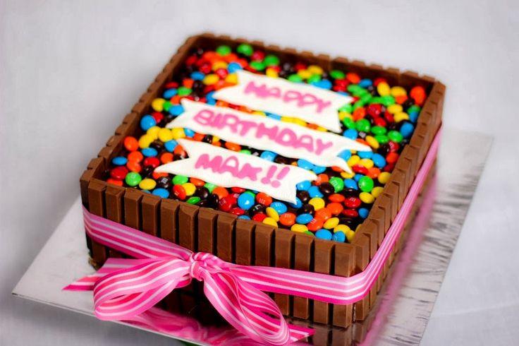 DIY Birthday Cakes Using Kit Kats (Chocolate Bars) - Crafty Morning