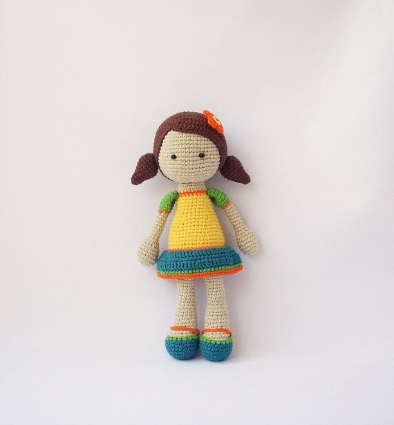 Mimi doll crocheted Crocheted Toy handmade doll by DuduToyFactory