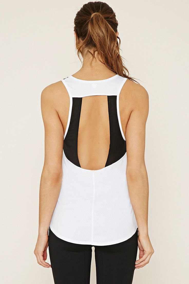 Active Mesh-Insert Tank - Activewear - Tops - 2000168868 - Forever 21 EU English