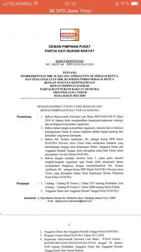 Hasil Gambar Untuk Contoh Sk Tim Pemenangan Caleg Pondok Bener