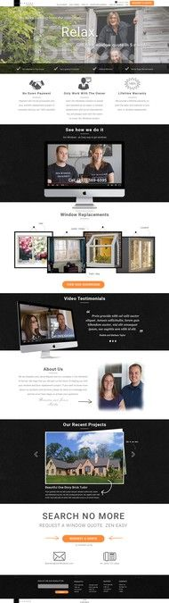 Design a website for a unique window replacement company by Antoinete
