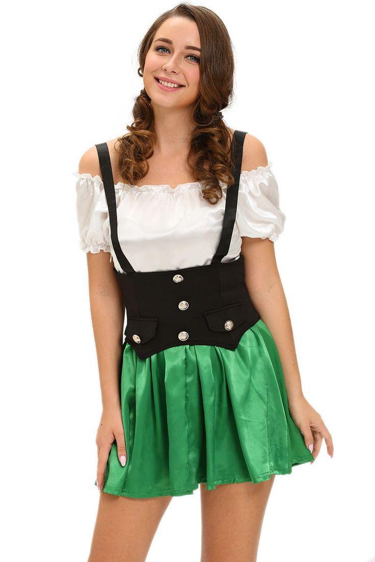 Costumes Fille de Bière Deux Pieces Shamrock Sweetie #Modebuycom #Achats #Acheter #basprix #discount #femme #femmes #france #Grande #gros #lingerie #nouveaucollection #pascher #paschere #prixdegros #qualité #robes #sexy #soldes #vente #vetements #vêtements