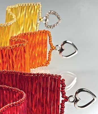 Bracelets pattern with Bugle Beads and Seed Beads - Fire Mountain Gems.  #Seed #Bead #Tutorials
