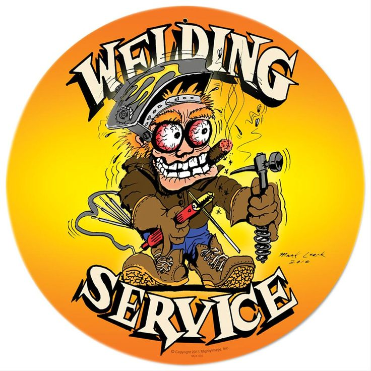 """Find Welding Service Metal Sign MLK026 and get Free Standard Shipping on orders over $99 at Summit Racing!  This sign is made of durable 24-gauge steel, with bold images baked into a tough powdercoat finish. It is weathered for vintage style, and drilled and riveted for easy hanging. 12"""" x 18""""  Find Welding Service Metal Sign MLK026"""