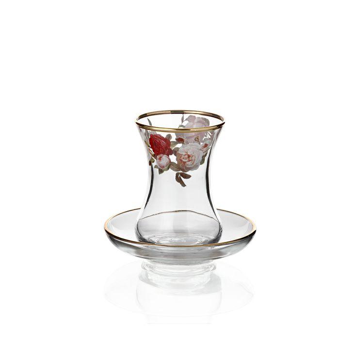 Bernardo Rose Garden Çay Takımı / Tea Glass Set #bernardo #tabledesign #rose #vintage