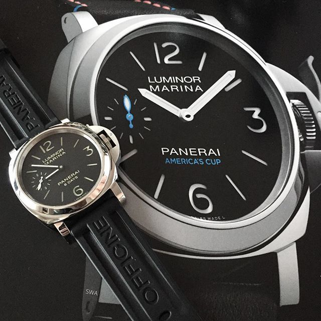 ⛵️Panerai Luminor Marina Oracle Team USA - PAM00724 - only 250 pieces available. Love the AMERICA'S CUP writing and the small blue hand. Btw same movement like in my PAM00510⛵️ #rolex#rolexero#rolexblog#lovewatches#watches#wwatches#watchporn#wristporn#wristshot#watchoftheday#rolexwrist#fashion#style#luxury#luxurytimepieces#swissmade#dailywatches#TheWatchesClub#swisswatchambassador#suitcarwatches#usa#panerai#pam#americascup#sailing#weekend#fun#edition