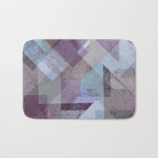 PLUM TURQUOISE ABSTRACT GEOMETRIC Bath Mat  on @society6. PLUM, PURPLE, CYAN, TURQUOISE, BLUE, RASPBERRY, GEOMETRY, GEOMETRIC, SQUARE, TRIANGLES, MINT, GRAY, STRIPES, MINIMALIST, SCANDINAVIAN, DESIGN, POP, TAPESTRIES, HOME DECOR, SOCIETY6, XIARI