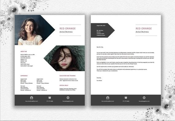 Artistic Resume For Actor Actress Designers Photographers Dancers And Other Artists Modele Cv Conseils D Ecriture Curriculum Vitae