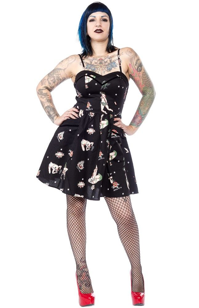HELL BUNNY GWYNETH MINI DRESS - Sourpuss Clothing