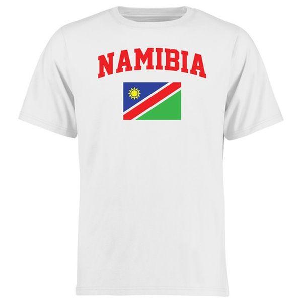 Namibia Flag T-Shirt - White - $21.99