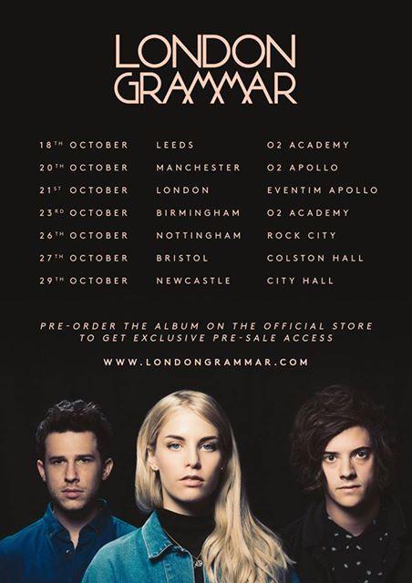 London Grammar announces UK tour #londongrammar #TruthIsABeautifulThing #londongrammarUKtour