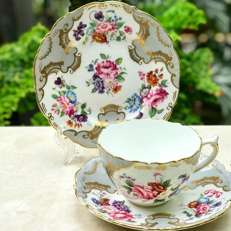 Beautiful Antique Coalport in trio