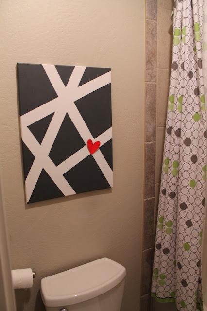 Simple to do with canvas and painters tape. As good as done! ...once I figure out the colors