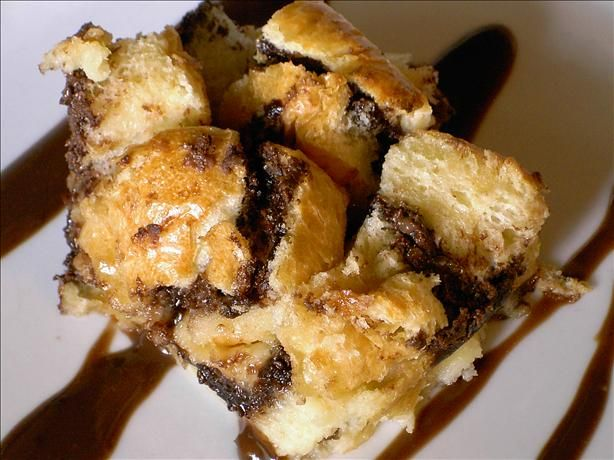 Nutella Bread Pudding. Had this last night and it's really yummy. Unfortunately, I just noticed the calories per serving . . . 1,000+ How can that be?????????
