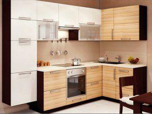 Кухня из акриловых панелей образец 8