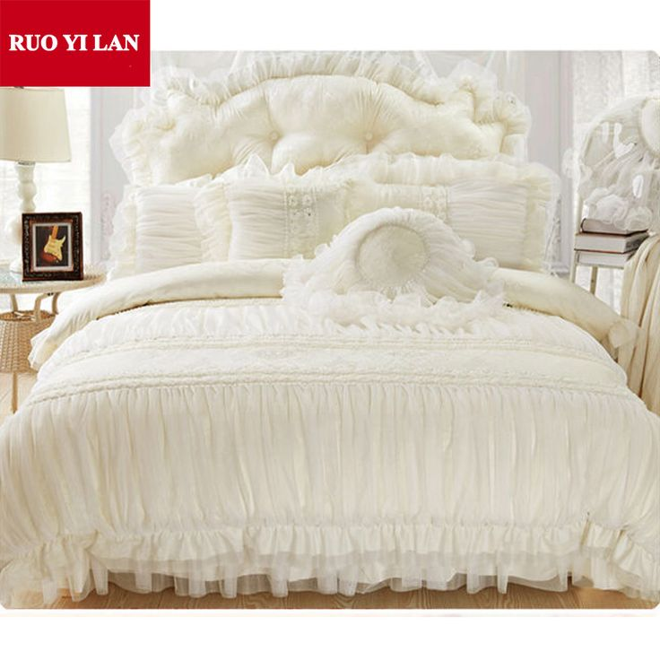 Cheap lace wig cap sizes, Buy Quality skirts winter directly from China lace crystal Suppliers: 	Cotton Jacquard Princess bedding set 4pcs silk Lace Ruffles duvet cover…