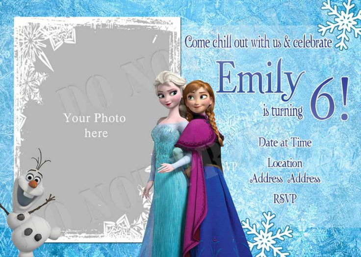 26 best Frozen Birthday party invitations images on Pinterest