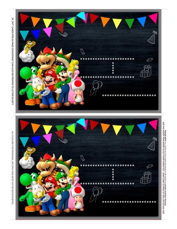 Pin On Mario Birthday Party