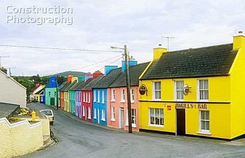 Small Irish Villages Colourful Houses In The Village Of Eeries In The Irish Republic In 2019
