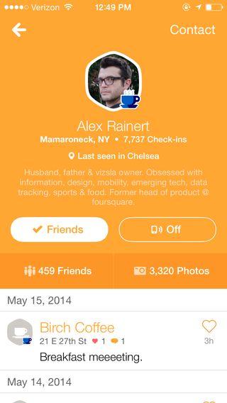 Swarm by Foursquare #profileview