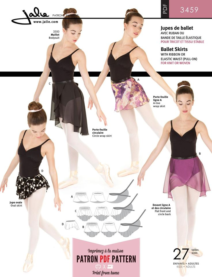 Jalie 3459 - Ballet Skirts PDF Pattern by Jalie