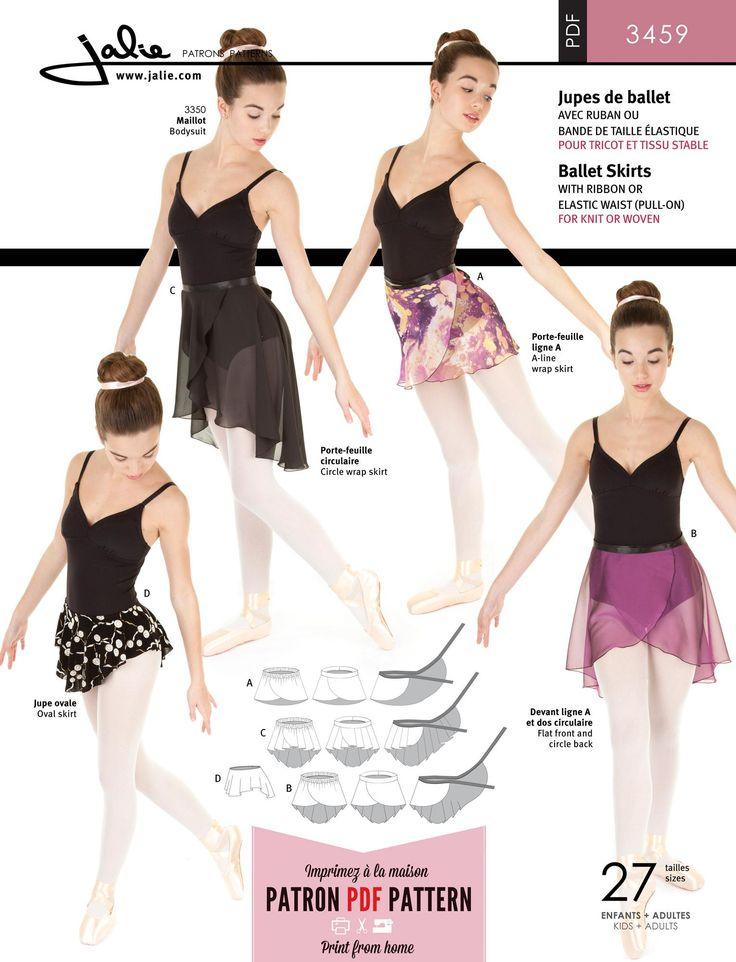 Jalie 3459 - Ballet Skirts PDF Pattern by Jalie