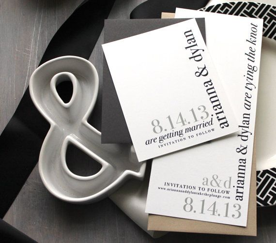 Urban Elegance - Modern Wedding Save the Dates