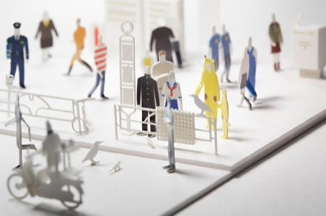 Tiny scale people for architectural models