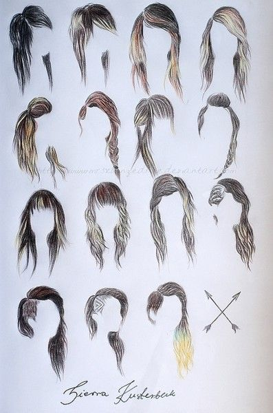 Groovy 1000 Images About Anime Hair Styles On Pinterest Sketching Short Hairstyles For Black Women Fulllsitofus