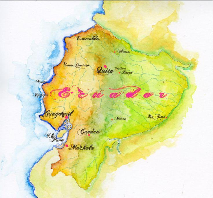 13 best Ecuador images on Pinterest Ecuador, South america and - best of world map japan ecuador