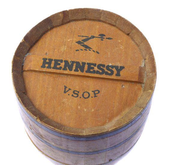 1960s Hennessy Brandy Barrel Vintage Breweriana by BiminiCricket
