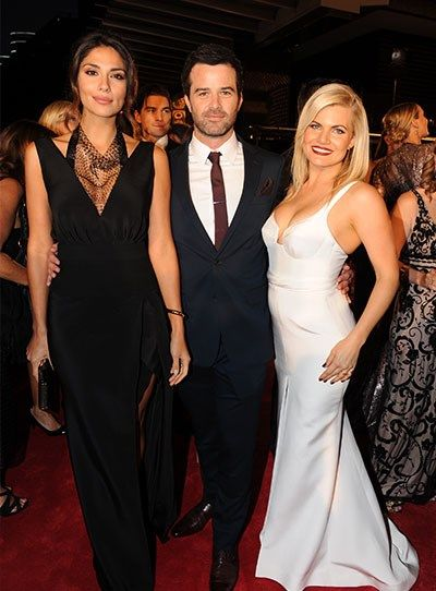 Pia Miller, Charlie Clausen and Bonnie Sveen at the 2015 Logies