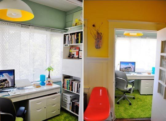 One of my favorite offices, from Apartment Therapy: Offices Inspiration, Small Offices, Tiny Offices, Favorit Offices