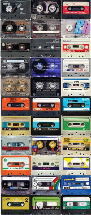 tapes ~ I had a shoebox filled with my tapes (made from holding holding the tape recorder up to radio or tv)