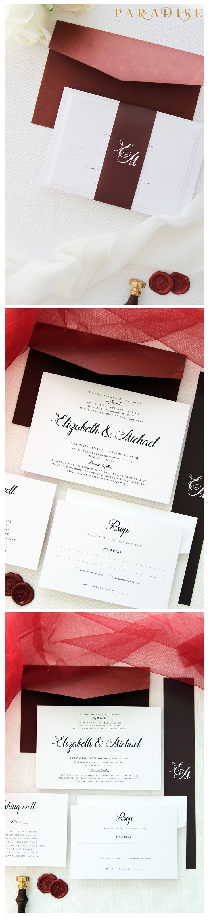 The 60 best Wedding Invitation Sets images on Pinterest