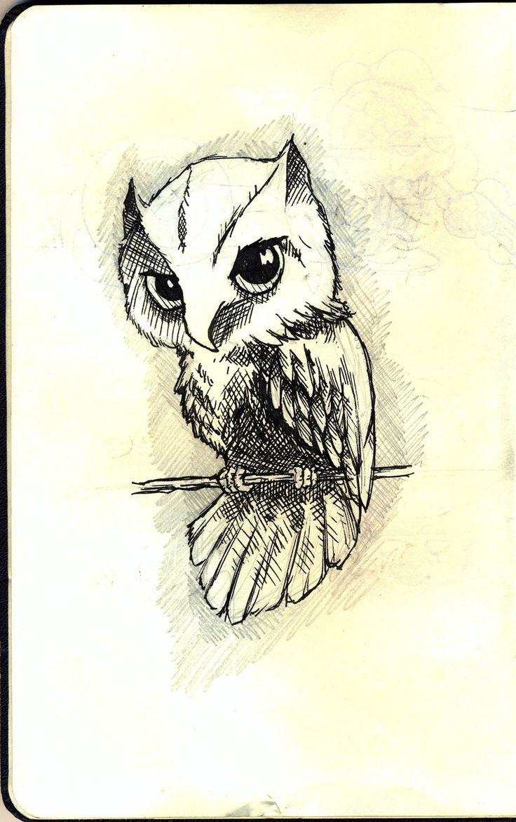 Pin eulen tattoo bedeutungen f on pinterest - Tattoo Ideas Little Owl Owl Sketch By Wansart Deviantart Com On