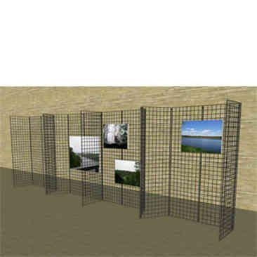 gridwall mall kiosk wall 20u0027l x